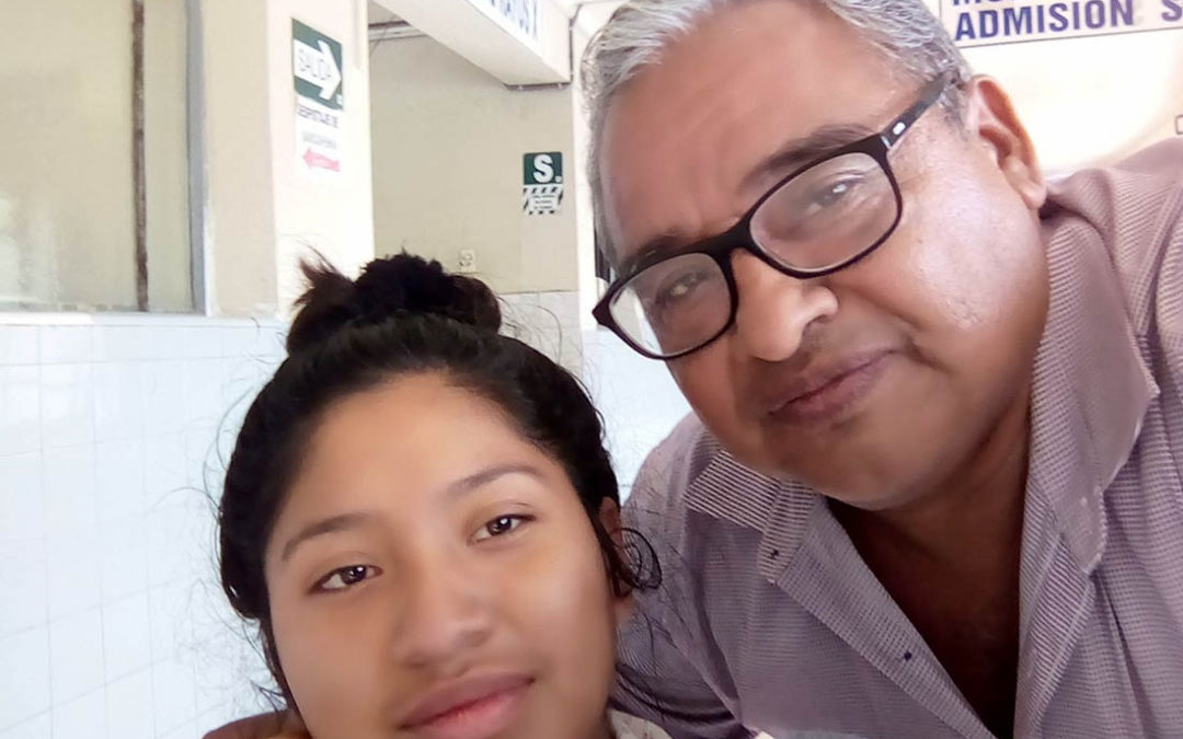 Maria leaves the hospital after her surgeries with her Papa, Pastor Jose Luis